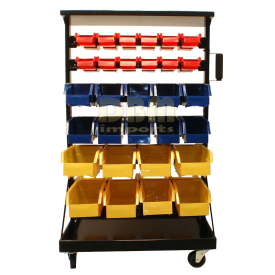 Mobile 60 Removable Bins Rack Parts Accessories Storage