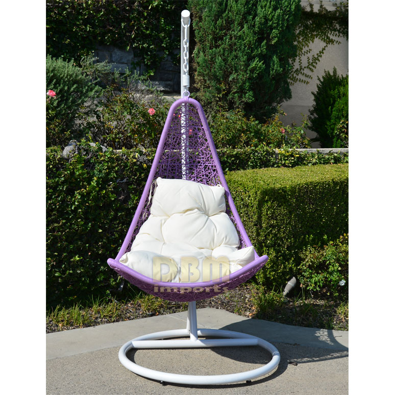Egg Shape Wicker Rattan Swing Lounge Chair Weaved Hanging Hammock In Or Out Door Patio Porch