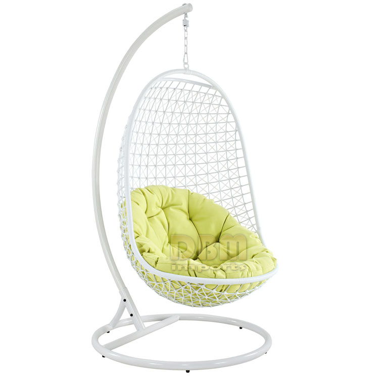 Wicker rattan swing bed chair weaved egg shape hanging
