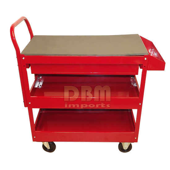 Red Mobile 36 Quot Steel Rolling Tool Cart Roller Part Holder