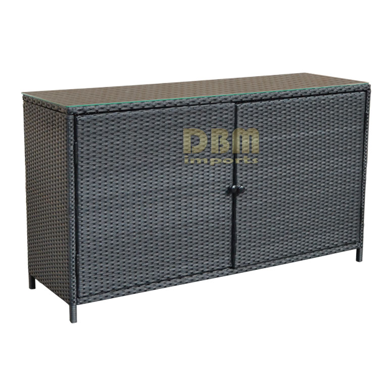 59 39 39 x 34 x 18 wicker sideboard buffet counter pool towel for Sideboard rattan
