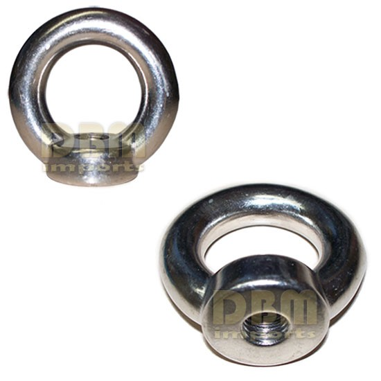 10-mm Din 582 EYE NUT Metric Thread Stainless Steel Marine 500-lbs