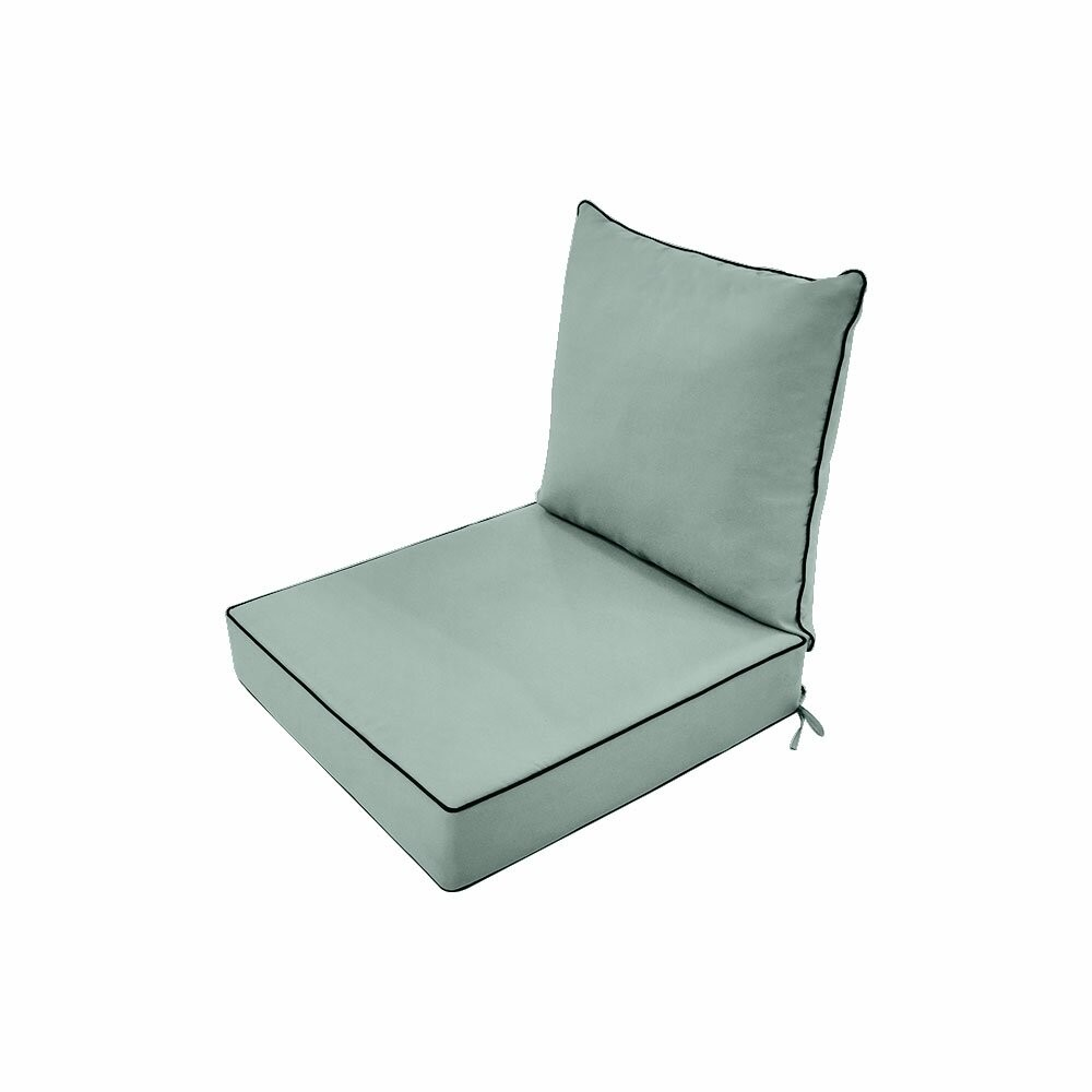 S1- AD002 Love Sofa Deep Seat Cushion 25 x 25 x 5  Back Rest Pillow Outdoor Polyester Water Repellent