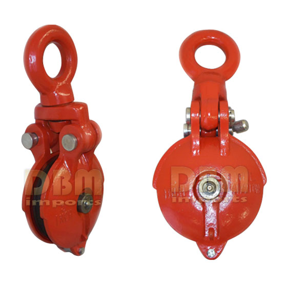1.5 Ton SWIVEL EYE Snatch Block Wire Rope Hoist Rigging 3
