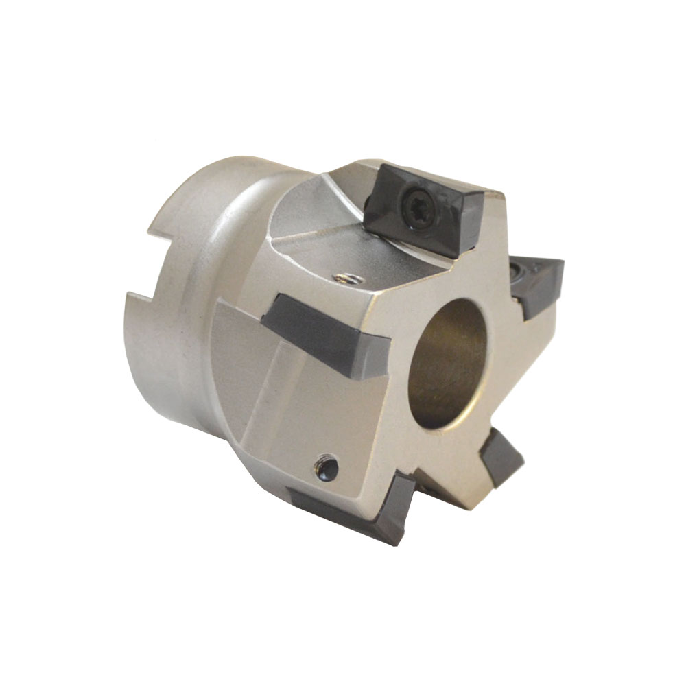 """90 Degree Indexable Face Mill Cutter 2/""""x3//4/"""" 5 Flute CNC Insert Lathe Tool Bit"""