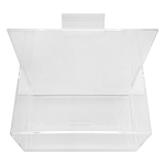 Bin Holder Slatwall Crystal Clear Acrylic Lucite Display Fixture 7'' x 4'' x 7''