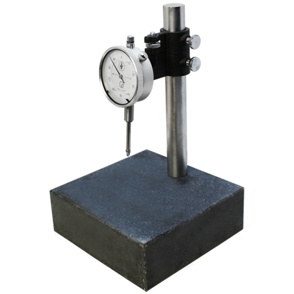 6x6x2 Granite Check Stand Surface Plate & DIAL INDICATOR Gauge Granite Block