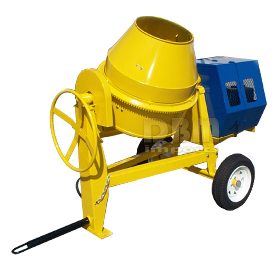 13 HP Towable 9 CF CUBIC CEMENT MIXER 12V Electric Gas-oline  55 MPH