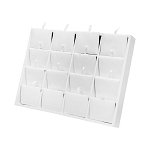 White Faux Leather 16 Pairs Earring Display Jewelry Pendant Holder Showcase Tray 10'' x 7-1/2''
