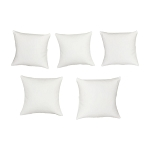 Set Of 5 Pc White Faux Leather Jewelry Watch Bracelet Pillow Display Retail Fixture 4'' x 4''