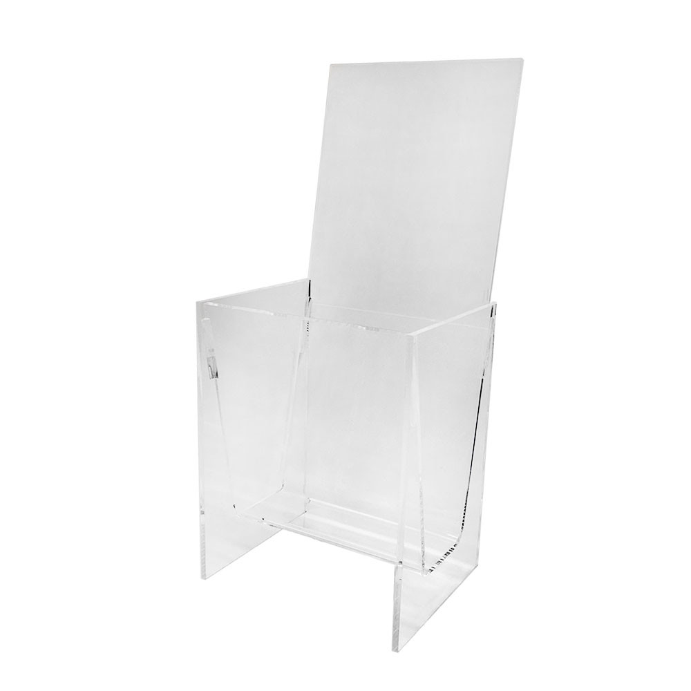 Acrylic Brochure Holder Crystal Clear 4-1/2 x 3-1/2 x 10