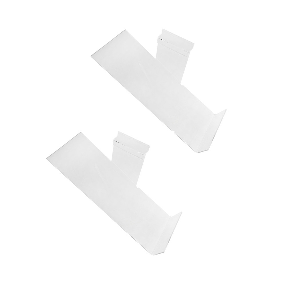 10'' x 4'' Slatwall Clear Acrylic Shoe Display Shelf Left Profile - 2 Pc