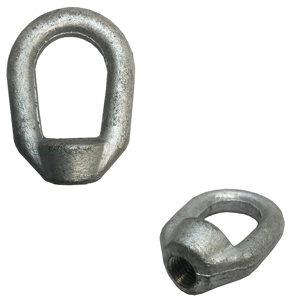 7//8 Hot Dipped Galvanized Eye Nut with 1-8 UNC Tap