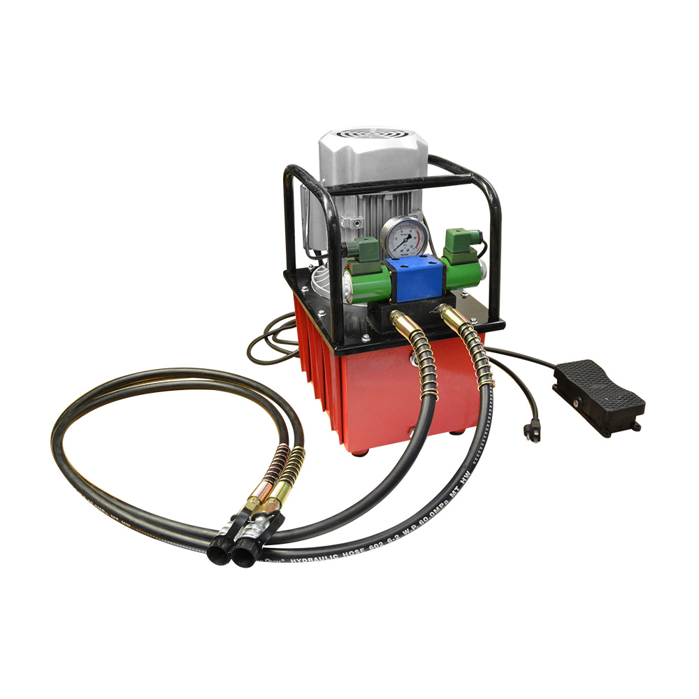 Electric Air Pumper Double Acting Hydraulic Pump Solenoid Valve 8L Oil Power Foot Pedal Pack 10,000 PSI
