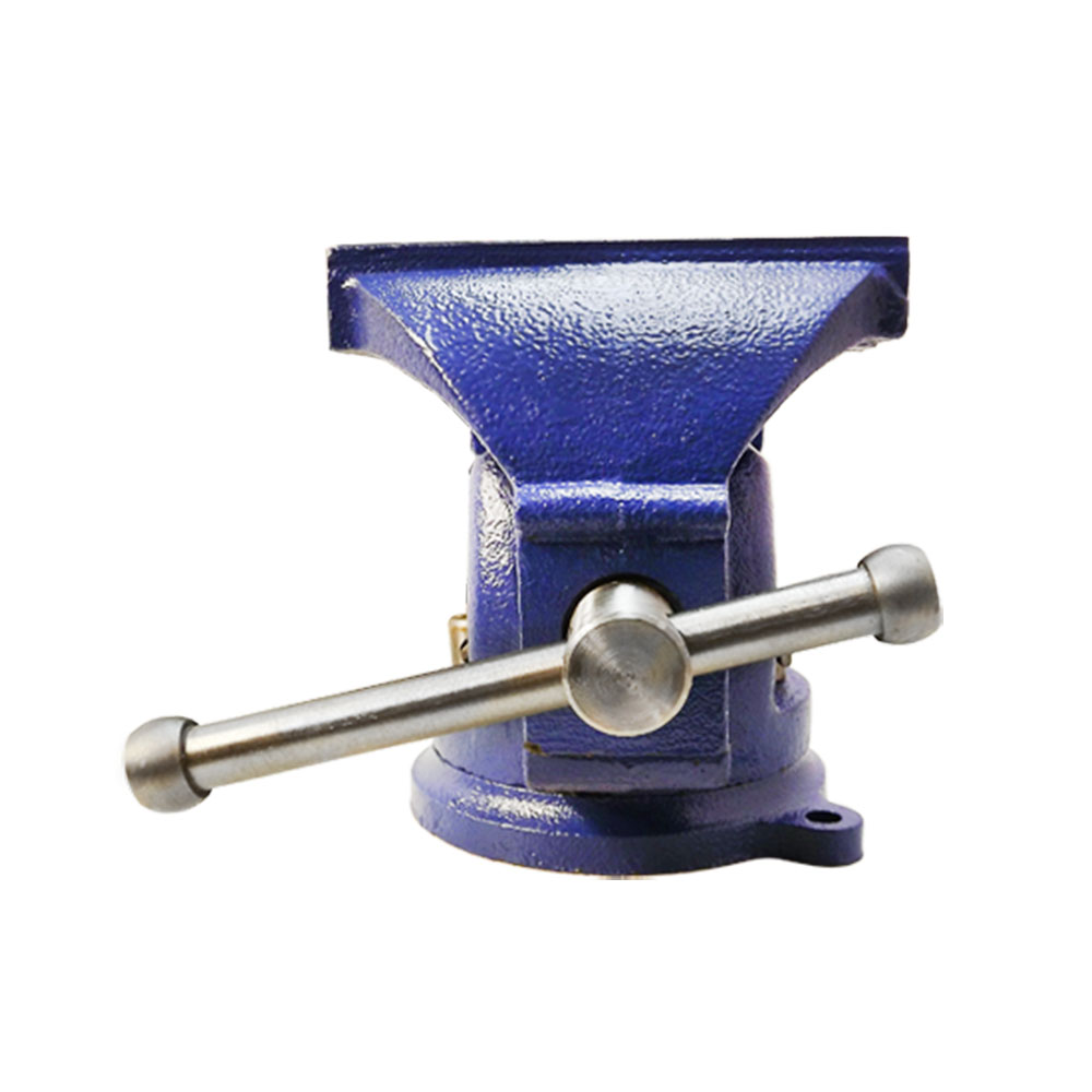 5 Bench Vise With Anvil 360 Degree Swivel Locking Base Table Top Clamp Hd Steel