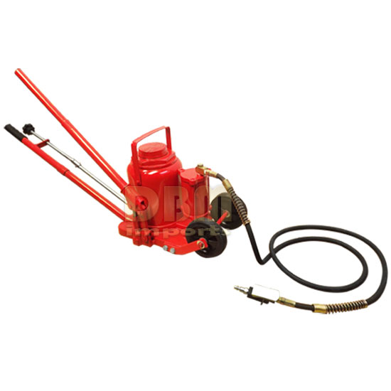 50 Ton Air Hydraulic Bottle Jack Lift or Manual Operate w/ Wheels *FREE SHIPPING