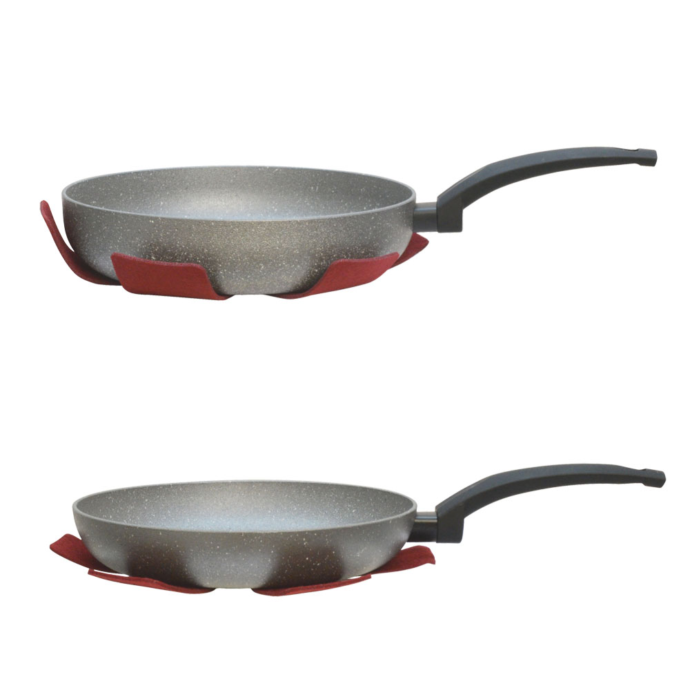 2 Pc Combo 10 Quot Deep And 10 Quot Flat Lava Stone Frying Pan Wok