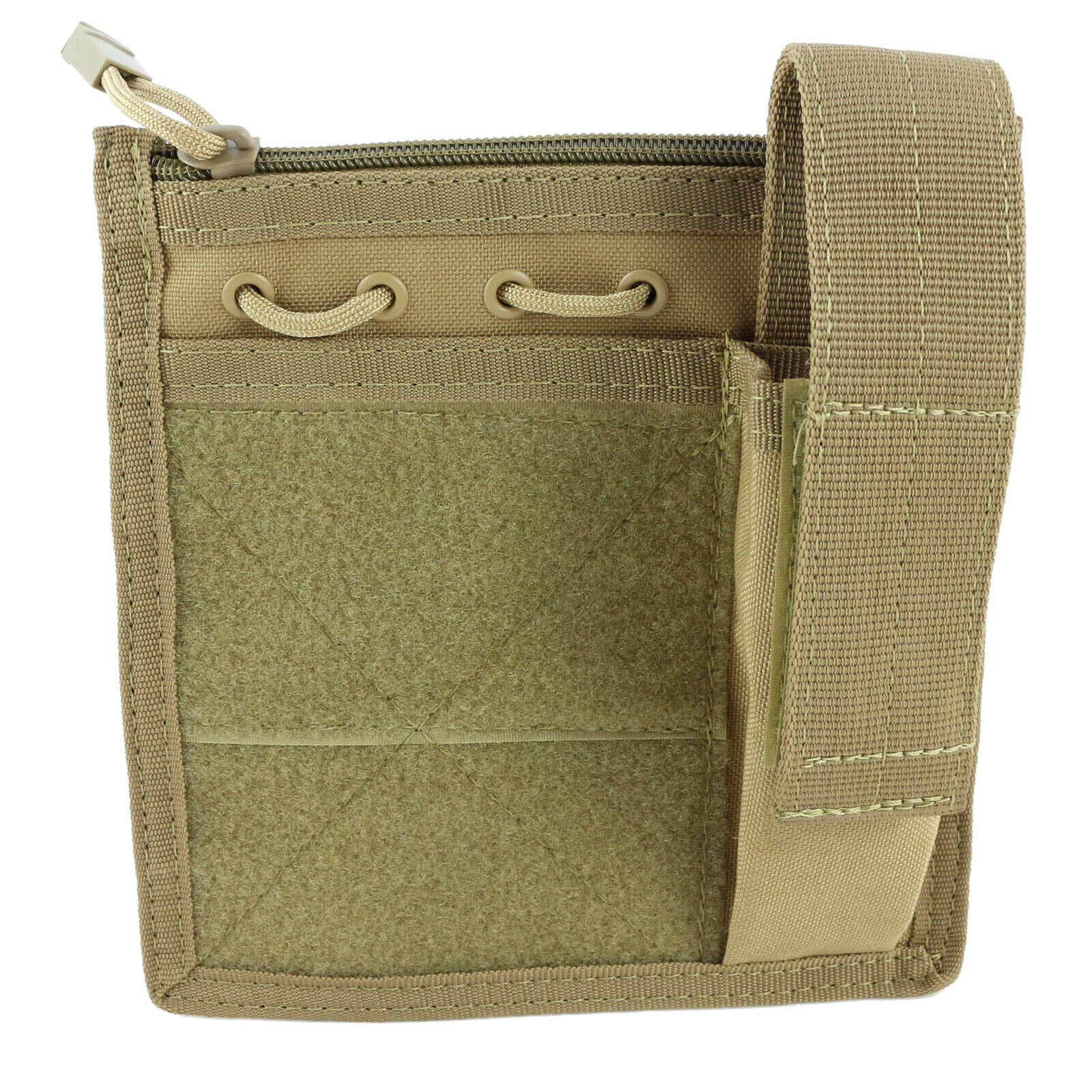 TAN Utility Admin Pouch Flashlight ID Mag Magazine Holder Administrative Bag