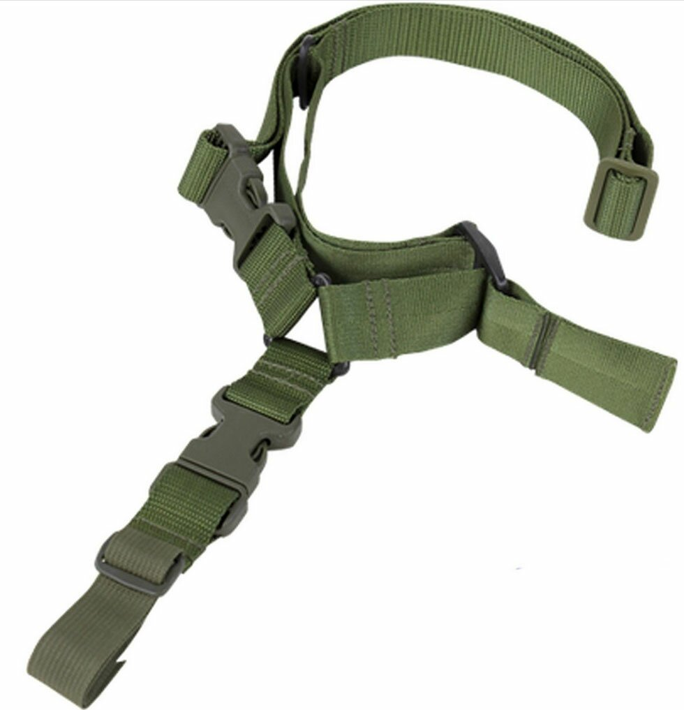Quick Release One Point Sling Nylon MADE IN USA OD GREEN Molle Tactical