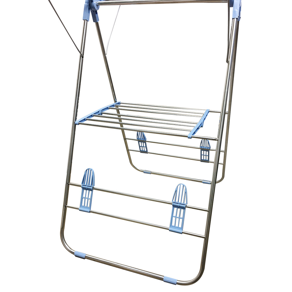 Indoor And Outdoor Folding Collapsible Clothes Drying Rack