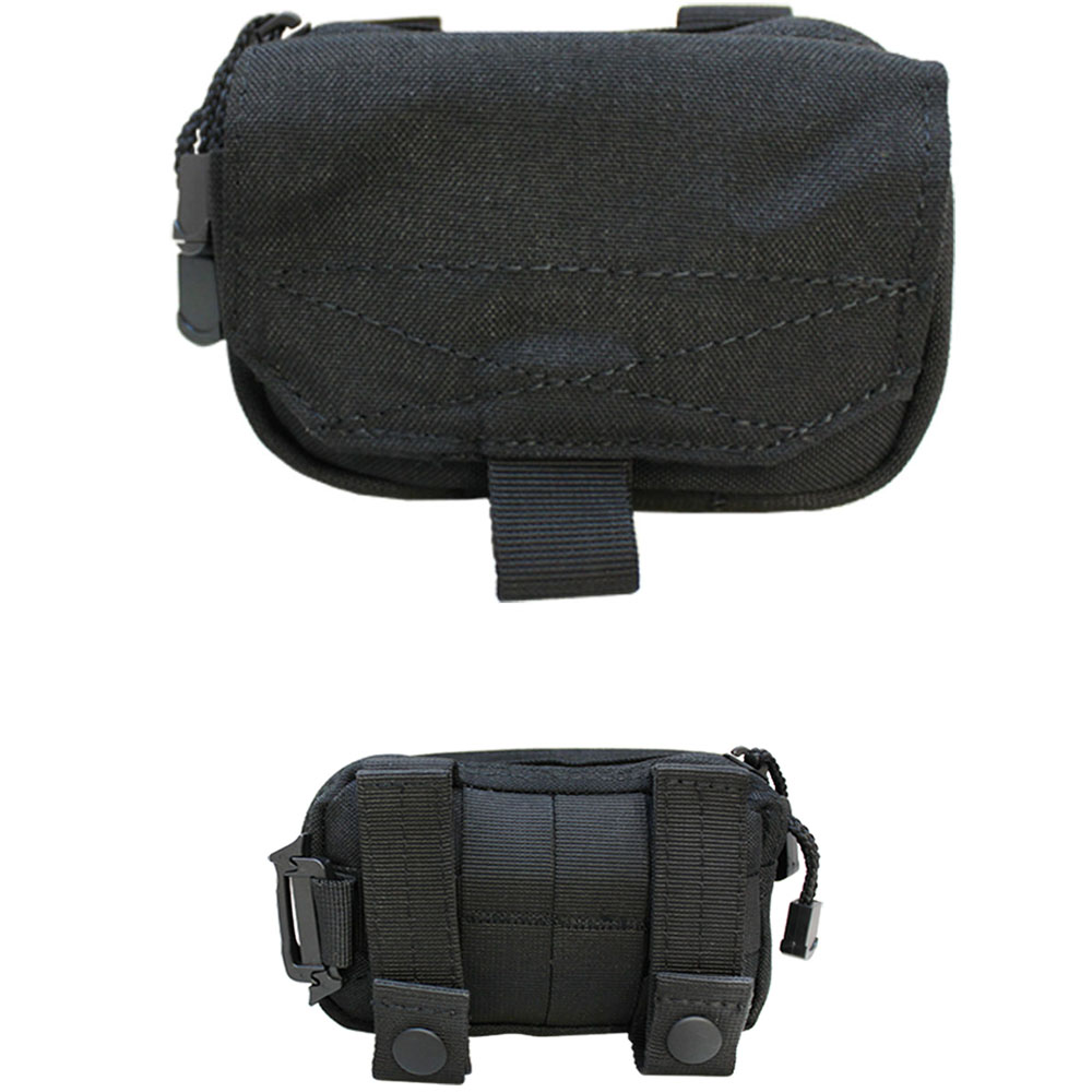 BLACK Molle Tactical DIGI Pouch GPS IPOD MP3 Cell Phone Case Cover Small Bag