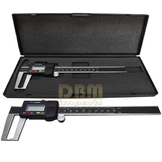 6''/ 150mm OUTSIDE Groove Digital Caliper Outer Vernier Measurement Ruler Scale
