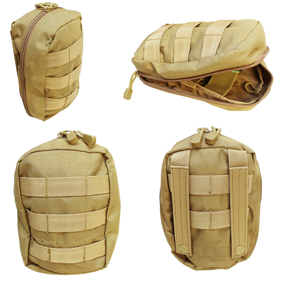 TAN Molle Tactical EMT Medic First Aid Pouch Bag IFAK Utility Tool Carrier