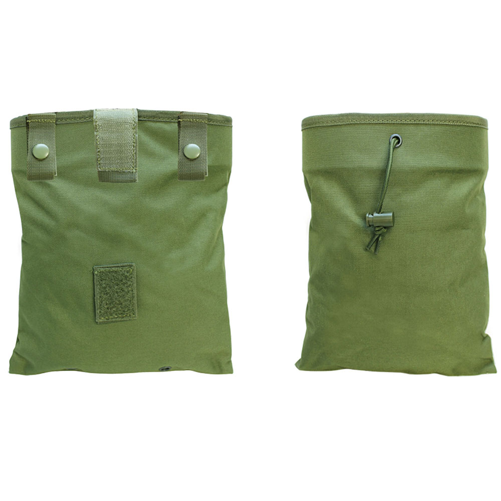 TAN Tactical Molle Pals Fold Foldable Recovery Pouch Carrying Mag Dump Bag