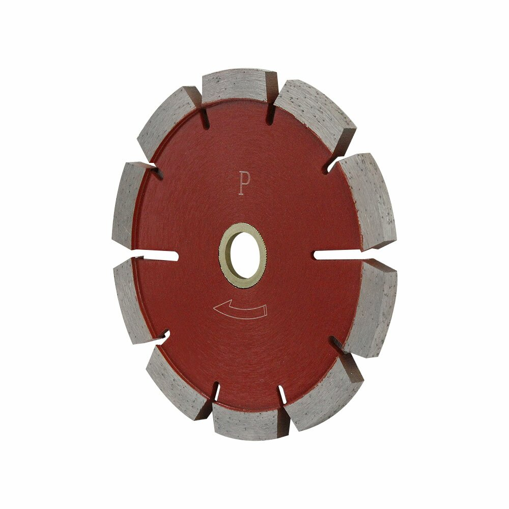 7/8''-5/8'' Arbor 5'' Premium Red Tuck Point Blade Concrete Mortar Joint Removal