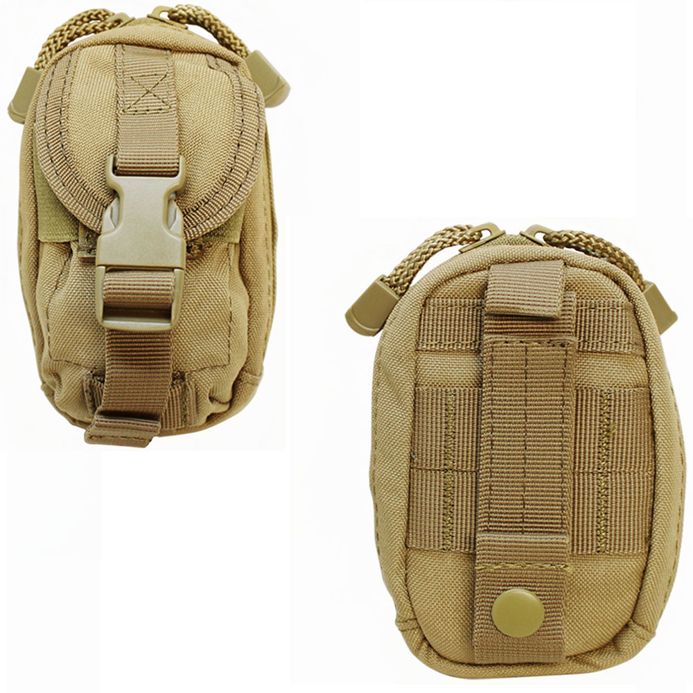 Tactical Molle Pouch Ipouch Iphone Blackberry Camera Case Cover Pouch-TAN