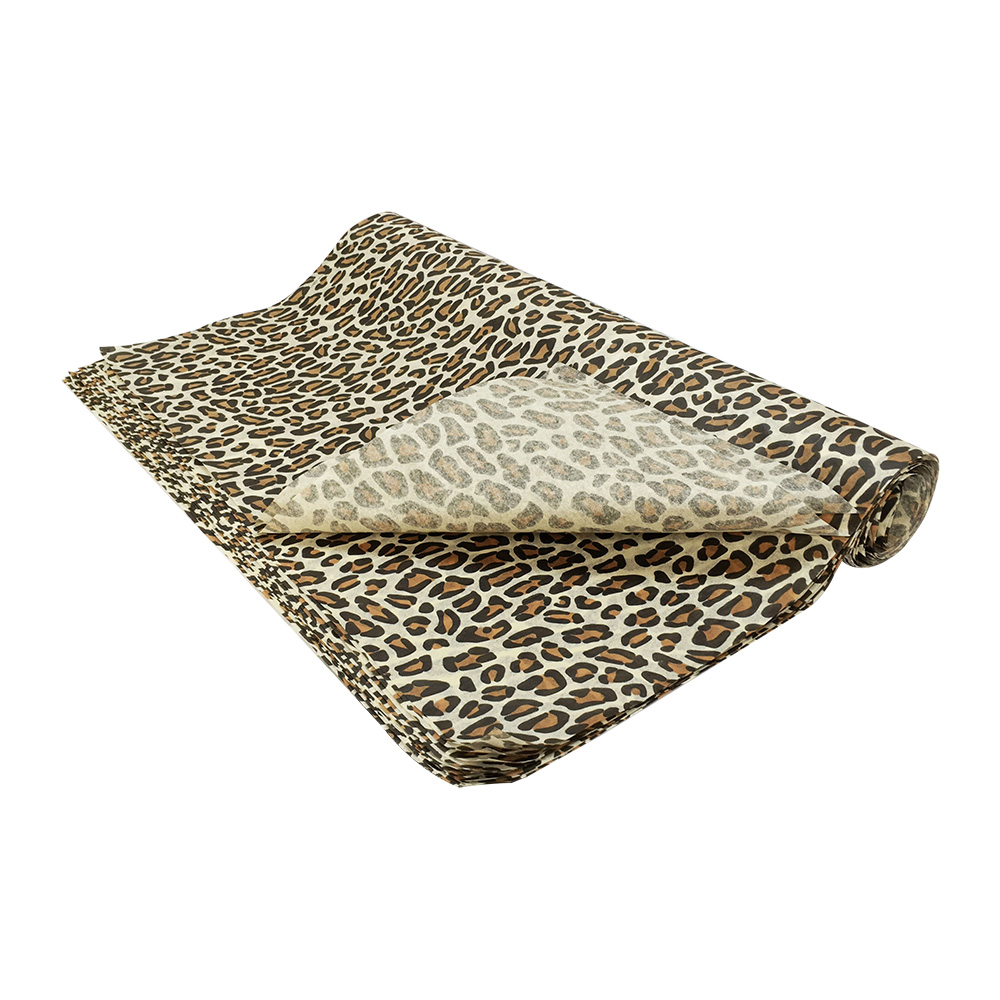 20 Sheet Gift Wrapping Tissue Paper 20 x 30 Leopard Animal Print Art Craft Supplies
