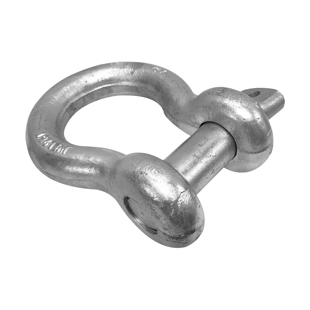 1-3/4'' Screw Pin Anchor D Ring Rigging Bow Shackle Galvanized Steel Drop Forged For Marine Boat WLL 50,000 Lbs