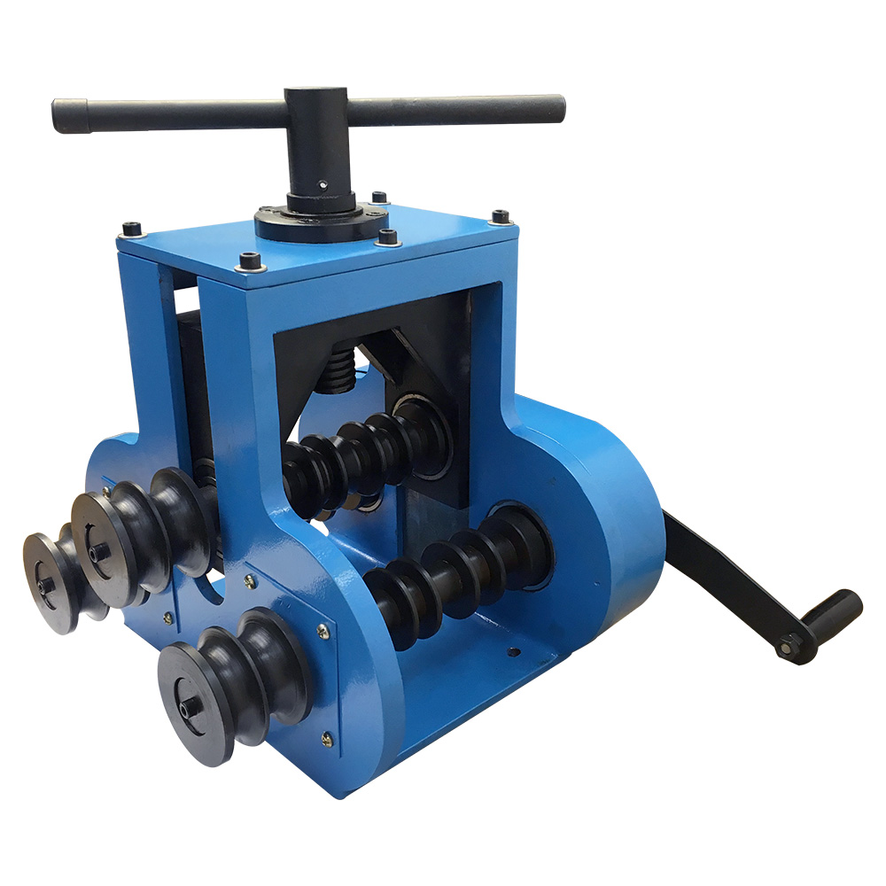 Manual Pipe Tube Roller Bender Rolling Tubing Round Flat