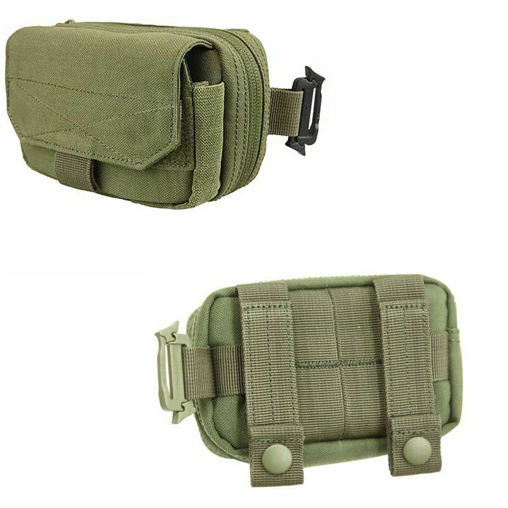 OLIVE GREEN IPHONE IPOD MP3 PLAYER MOBILE PHONE POUCH CASE MOLLE HIKING ARMY