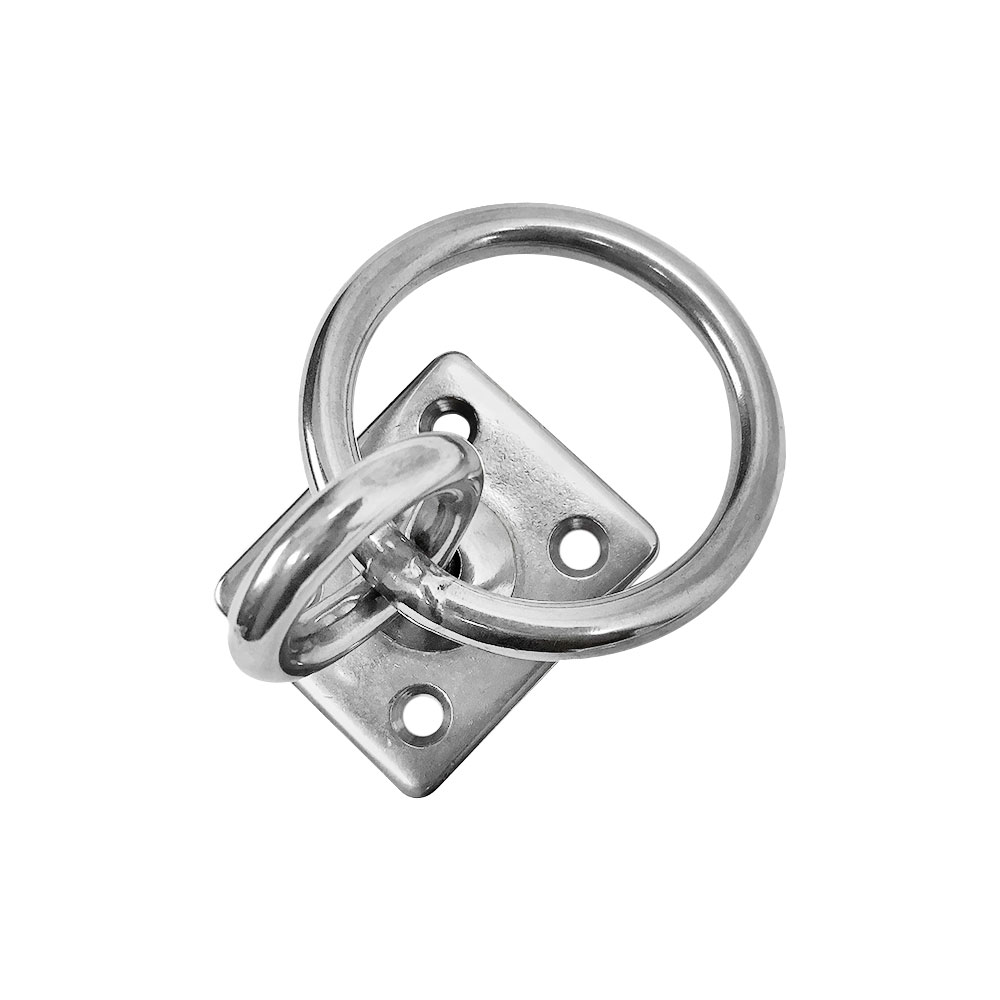 Marine hardware Swivel Pad Eye Plate Square With Ring 1/4