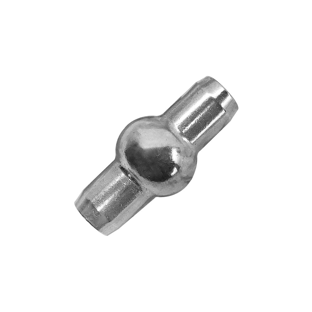 "1 PC Double Shank Ball 1/4"" Stainless Steel 316 Swage Fitting Industrial Wire Rope Terminal Cable"