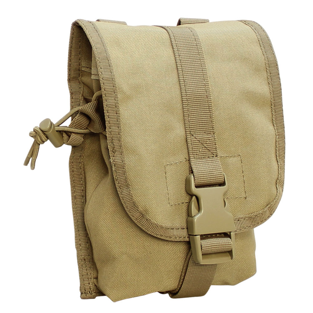 MOLLE Tactical Nylon Small Utility Storage Pouch -TAN