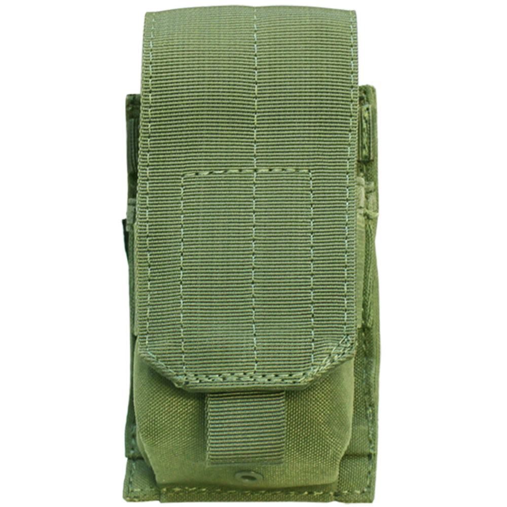 OD GREEN MOLLE Tactical .308 or 7.62 Single Rifle Magazine Pouch