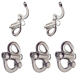 5PC Stainless Steel 316 Fixed Eye Snap Shackle 2