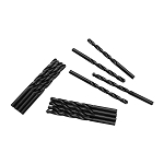 12 PC Straight Shank Drill Set 6.4mm Black Oxide Standard HSS Jobber Length Twist Drilling Tools