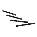 4 PC Straight Shank Drill Set 9.9mm Black Oxide Standard HSS Jobber Length Twist Drilling Tools