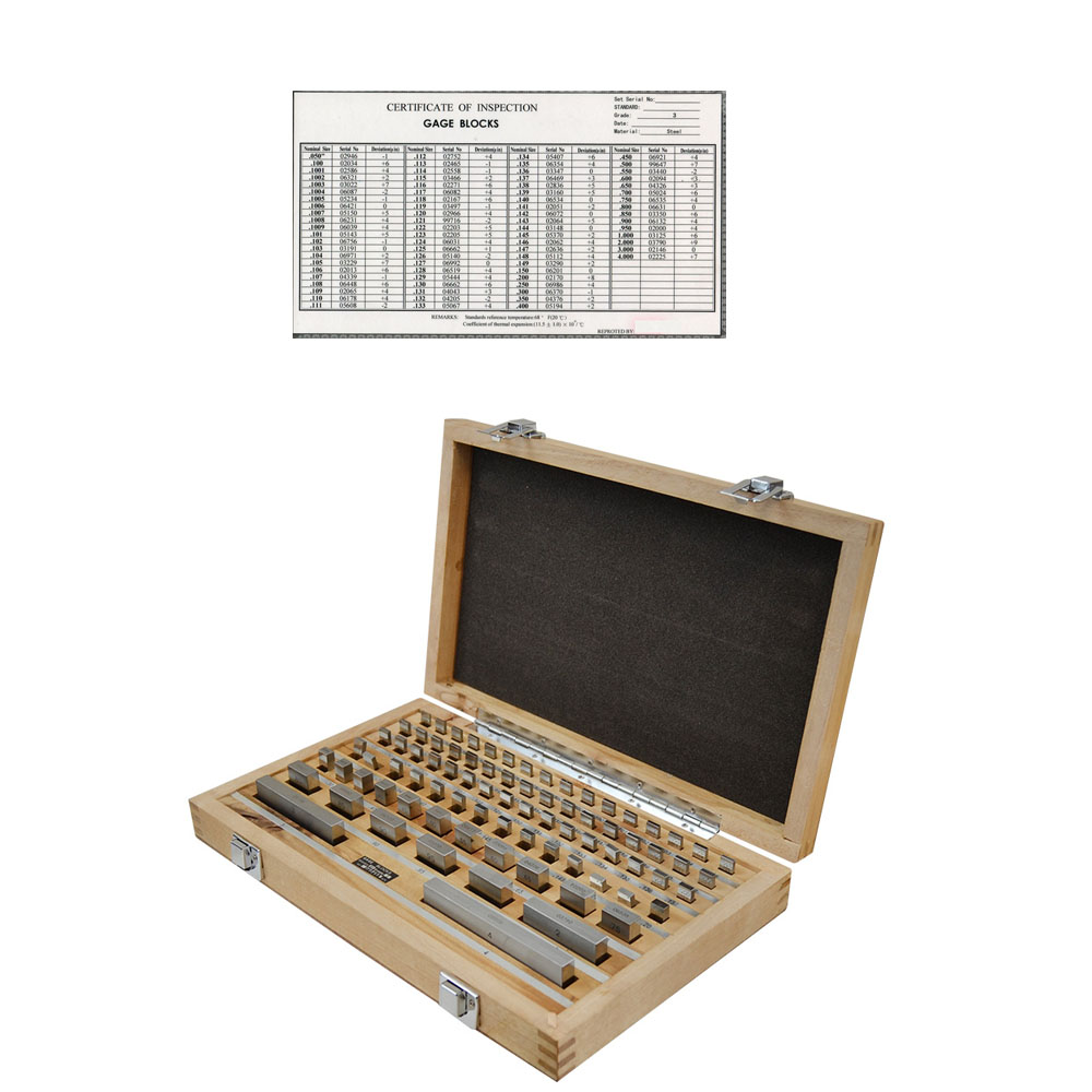 RECTANGULAR GAGE BLOCK SET 81 PC 0.050-4