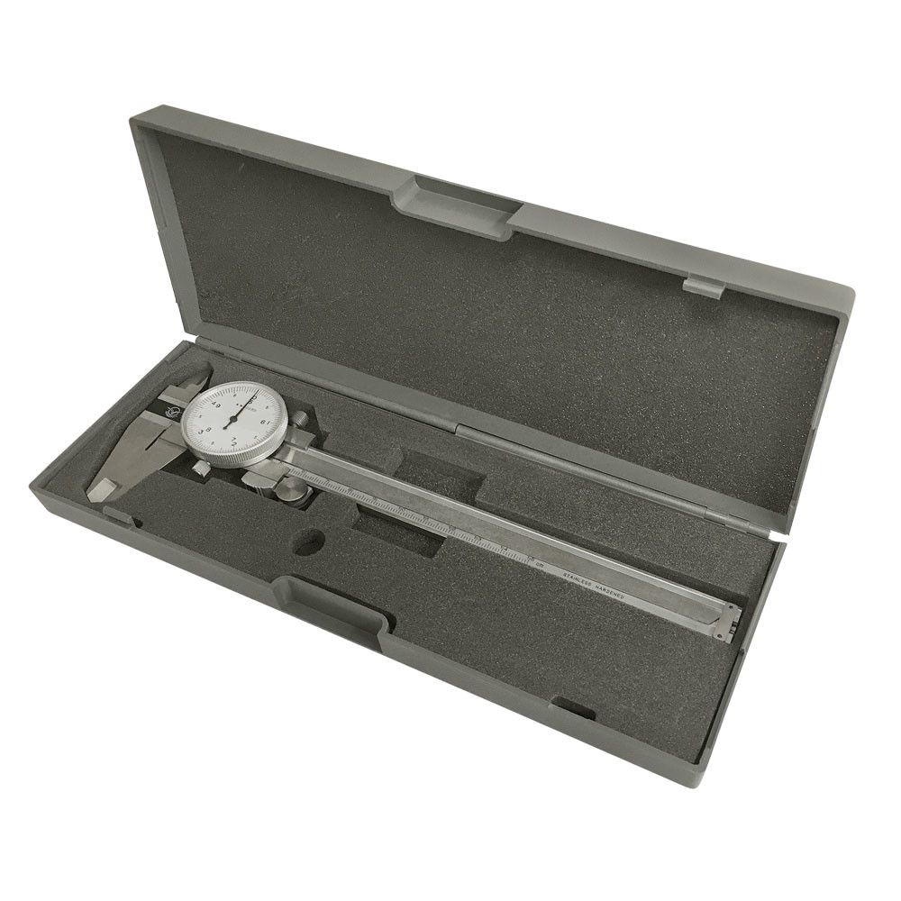 Stainless Steel Metric Dial Caliper Precision Hardened 150mm/0.05mm