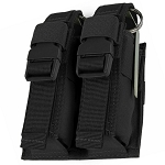 BLACK Molle Tactical Double Flash Bang Pouch PALS MAG Bag 2 Grenade Holder