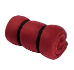 Burgundy Fleece Sleeping Bag Camping Liner Soft Insert Extra Thermal Protection Fleece Blanket