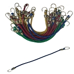 40 Pieces Mini Bungee Cords Tie Down 3/16 inch x 10 inch