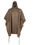Military USMC Style All Weather Poncho Rain Coat - Coyote Tan
