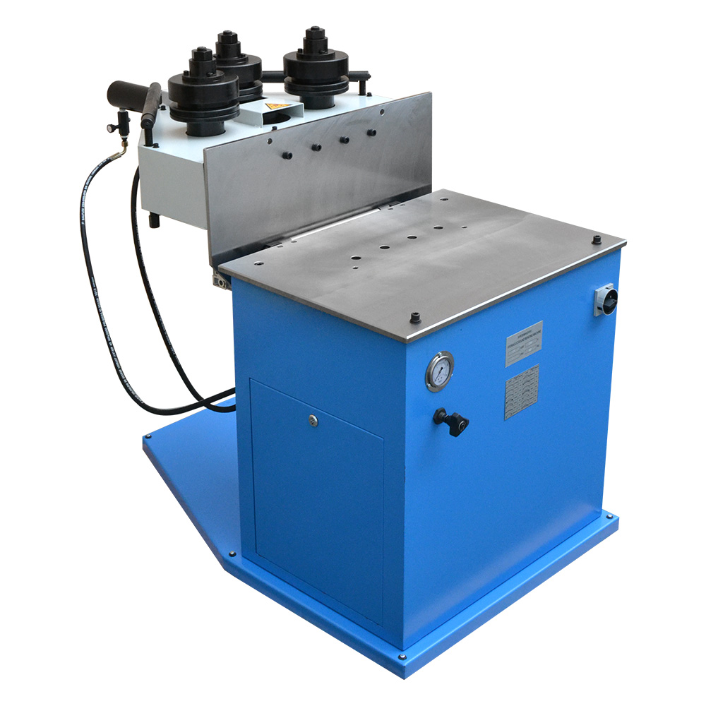 2HP Ring Band Roller Round Angle Bender Hydraulic Bending Machine Pipe  Square Tube Round Flat Steel 9 3 RPM 1-1/2