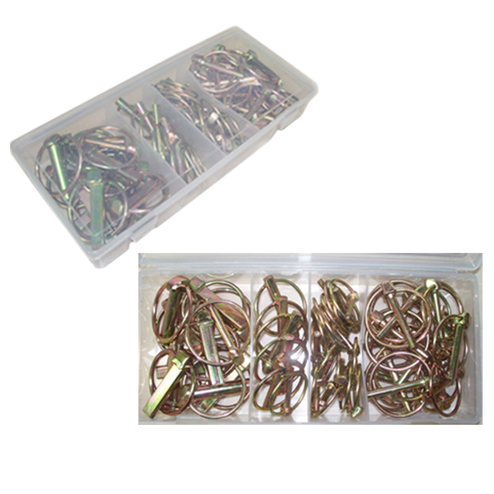 50 PCS Lynch Pin Tractor Attachment Assortment