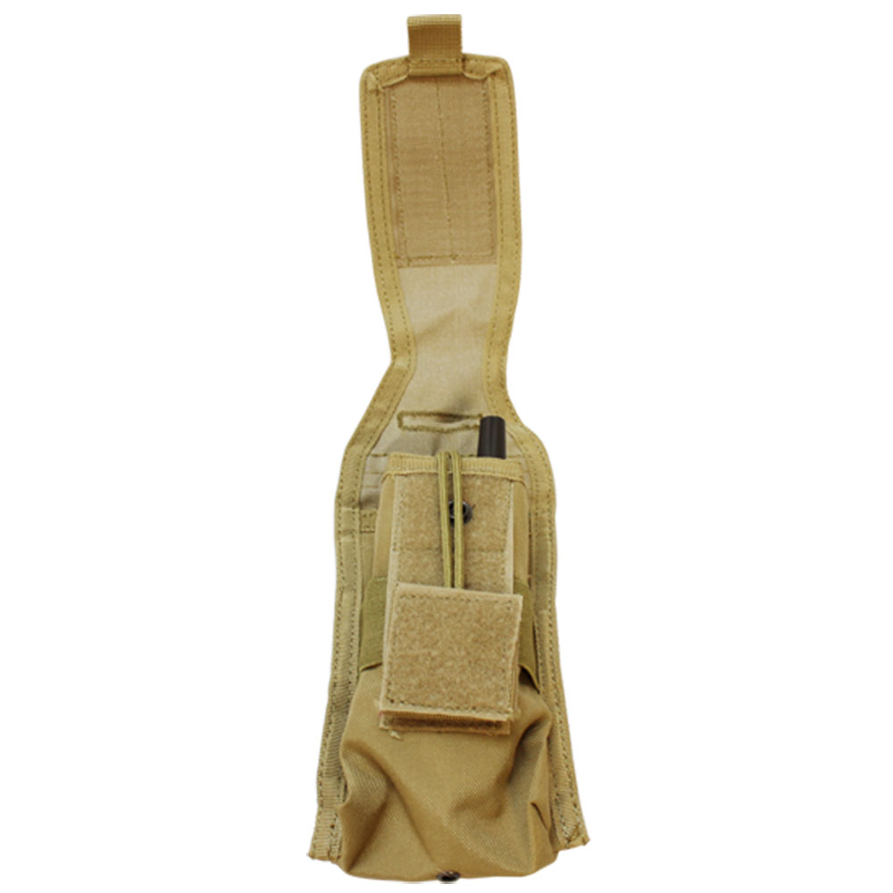 TAN MOLLE Tactical Radio Pouch  8